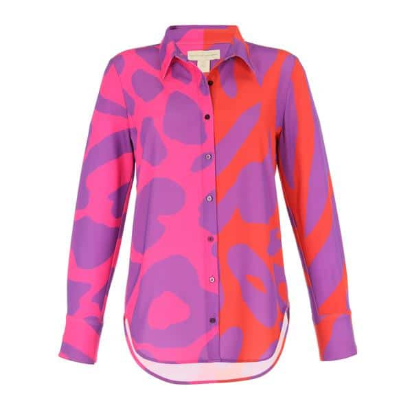 Patterned polyester button-down 1
