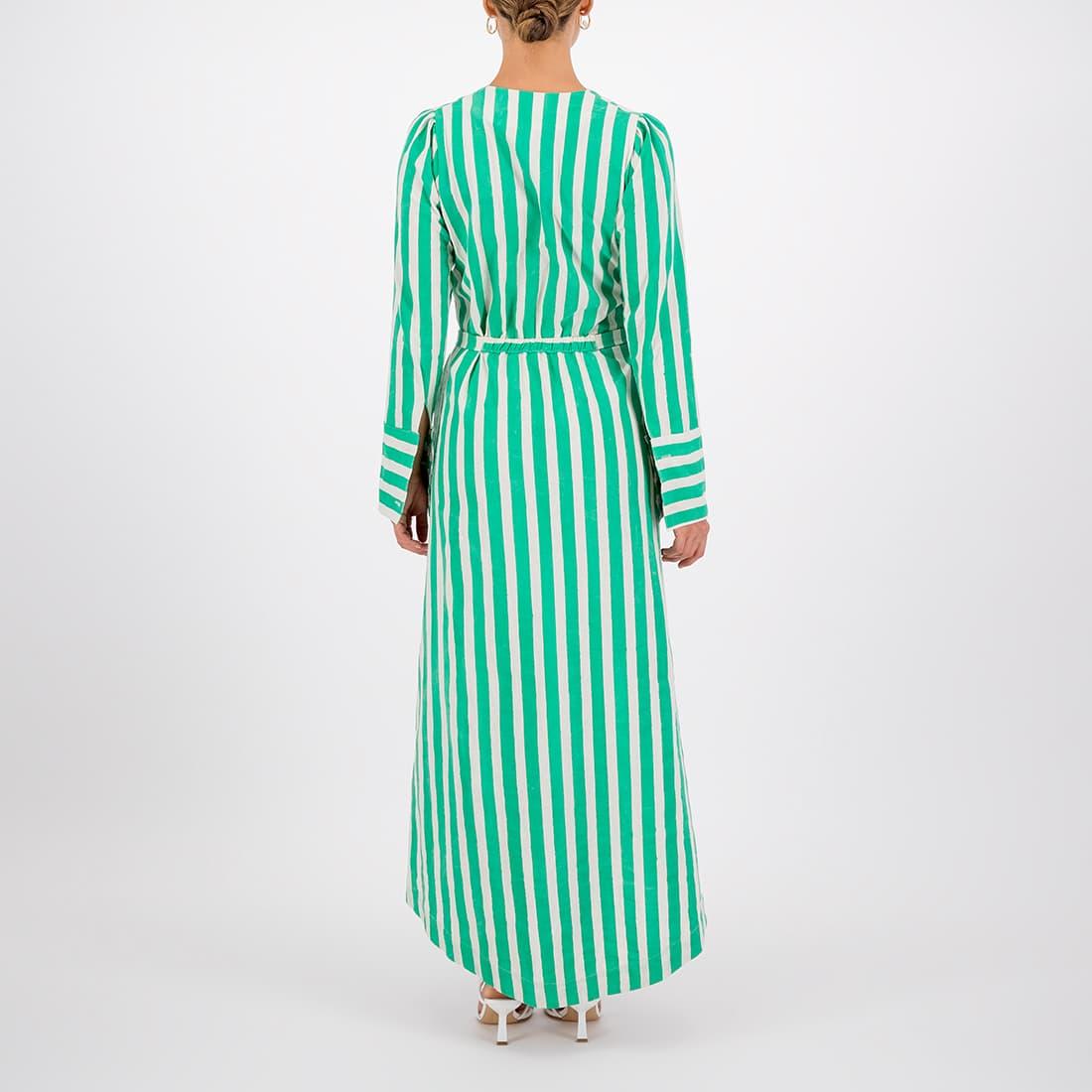 100% cotton ankle-length wrap dress 3