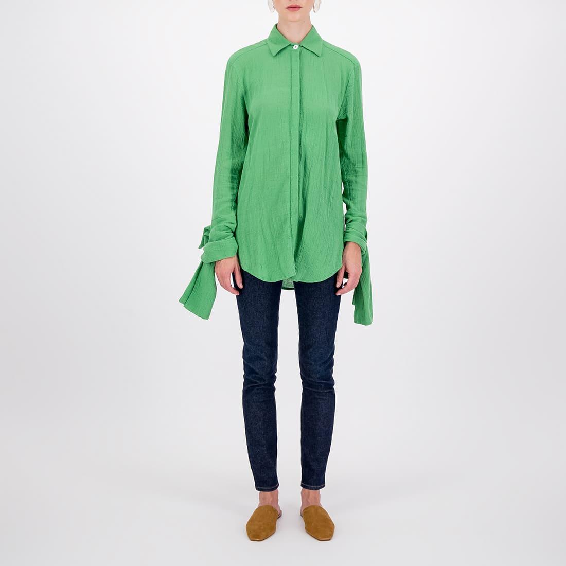 Sweetheart neckline blouse in 100% cotton 2