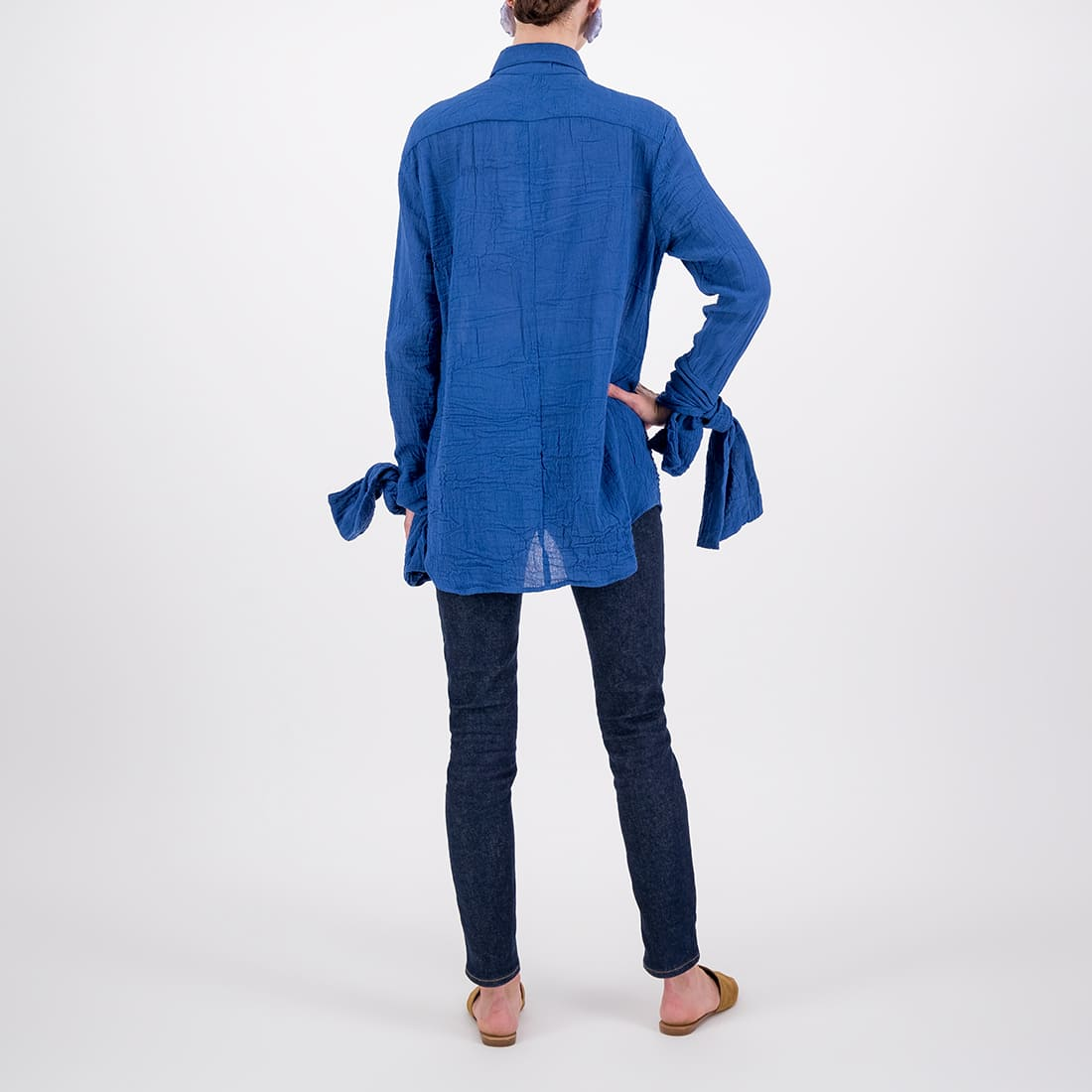 Sweetheart neckline blouse in 100% cotton 3