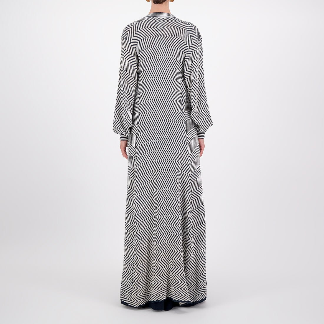 Machine-knit, floor-length kimono with long sleeves 3