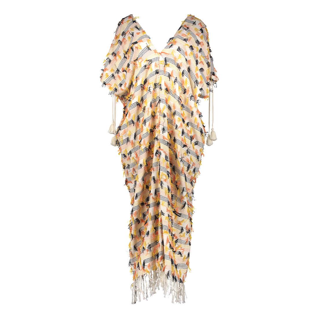 100% cotton long v-neck tunic 1