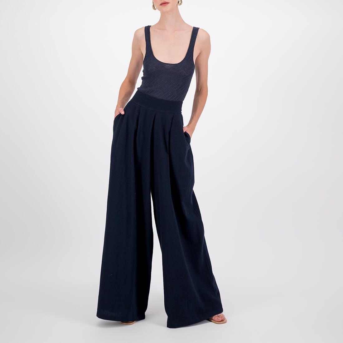 100% organic cotton high-waisted pants 2