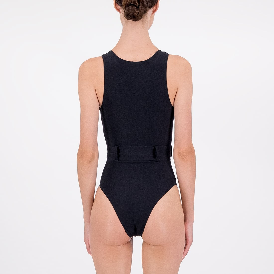 Deep-v swimsuit in blended fabric 3