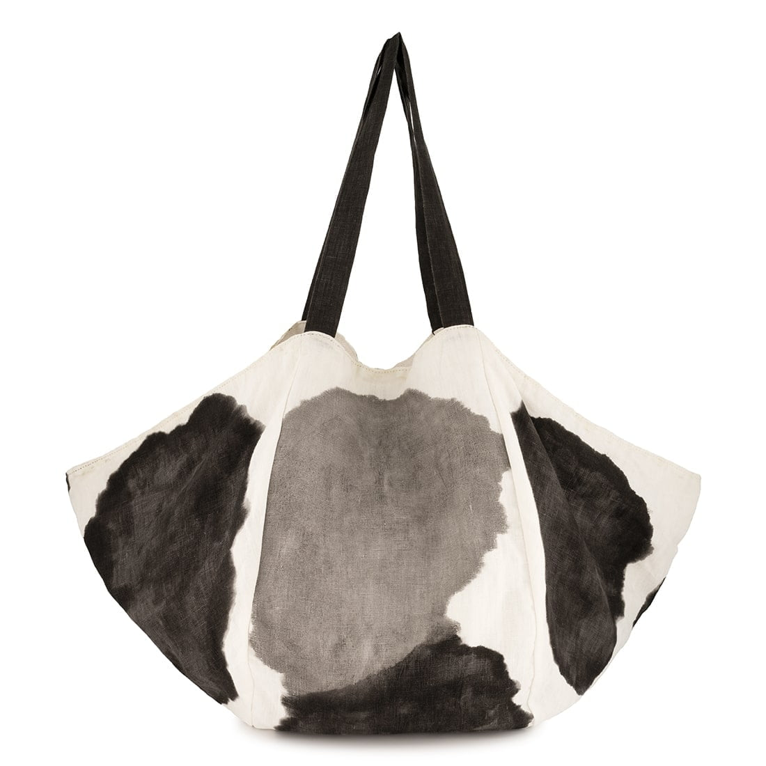 Atlas hand-painted linen tote with cotton interior 1