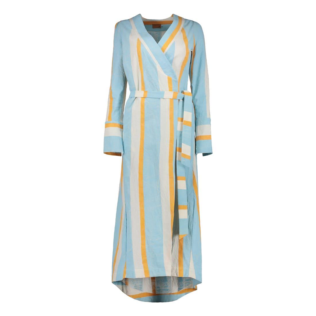 100% cotton ankle-length wrap dress 1