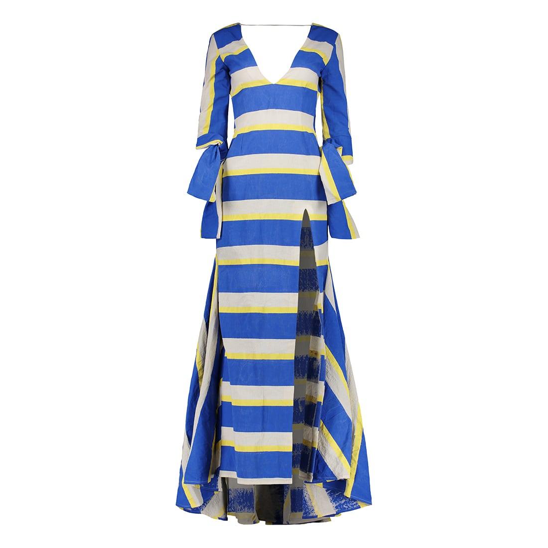 Malevo Floor-Length, V-Neck Gown 1