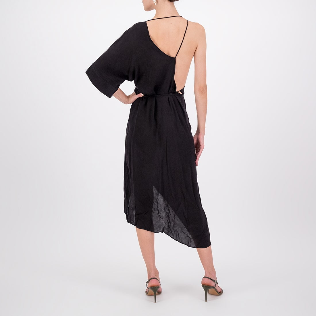 Asymmetrical rayon dress 3