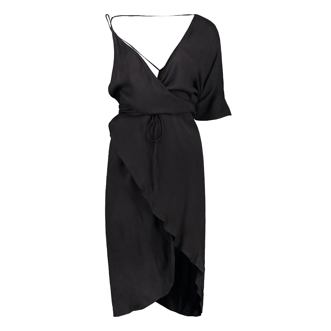 Asymmetrical rayon dress 1