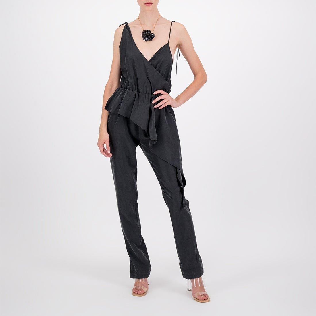 Asymmetrical rayon dress 2