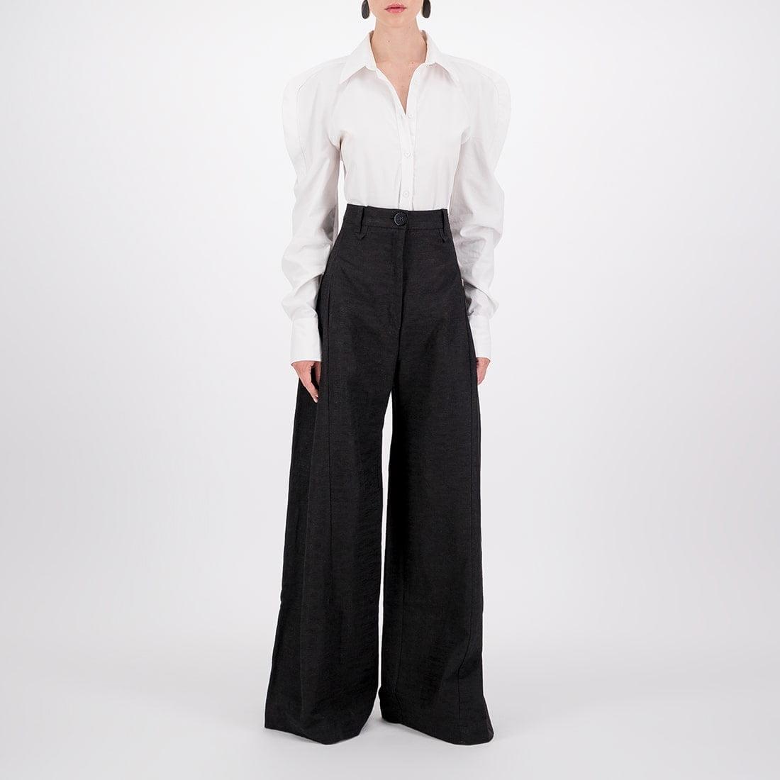 Linen-blend wide-leg trouser 2