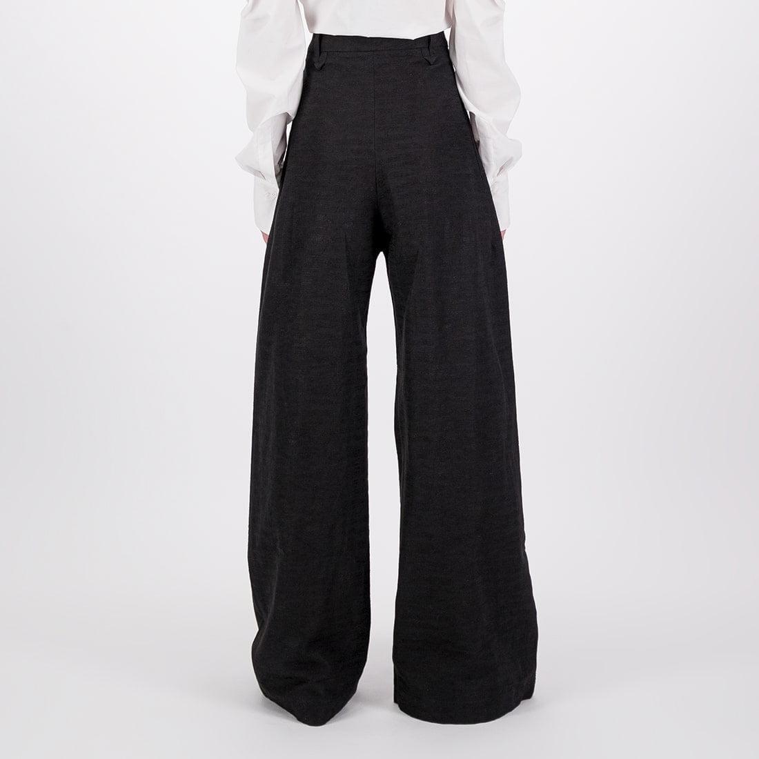Linen-blend wide-leg trouser 3