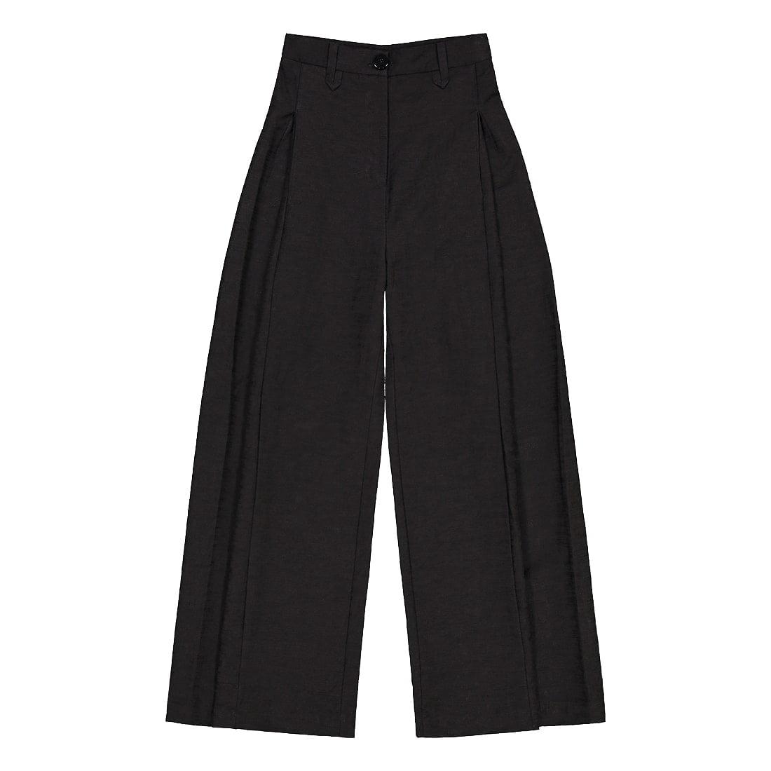Linen-blend wide-leg trouser 1