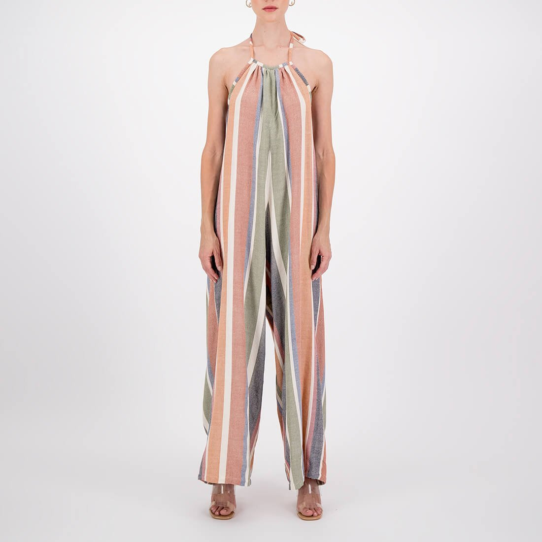 Handwoven, full-length, wide-leg jumpsuit 2