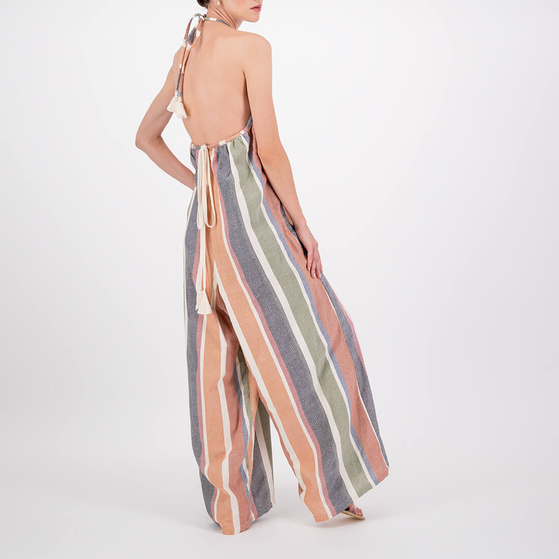 Handwoven, full-length, wide-leg jumpsuit 3
