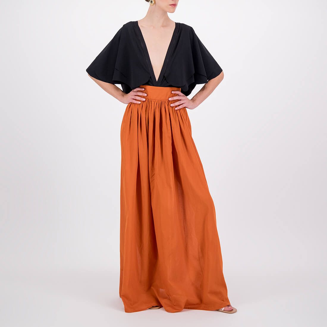 Full-length 100% cotton skirt 2