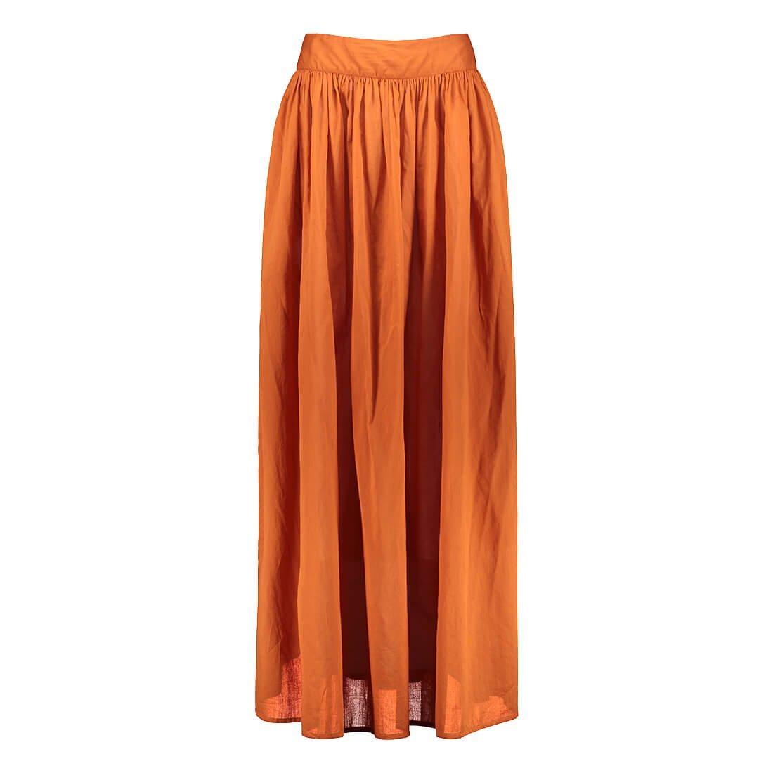 Full-length cotton skirt 1