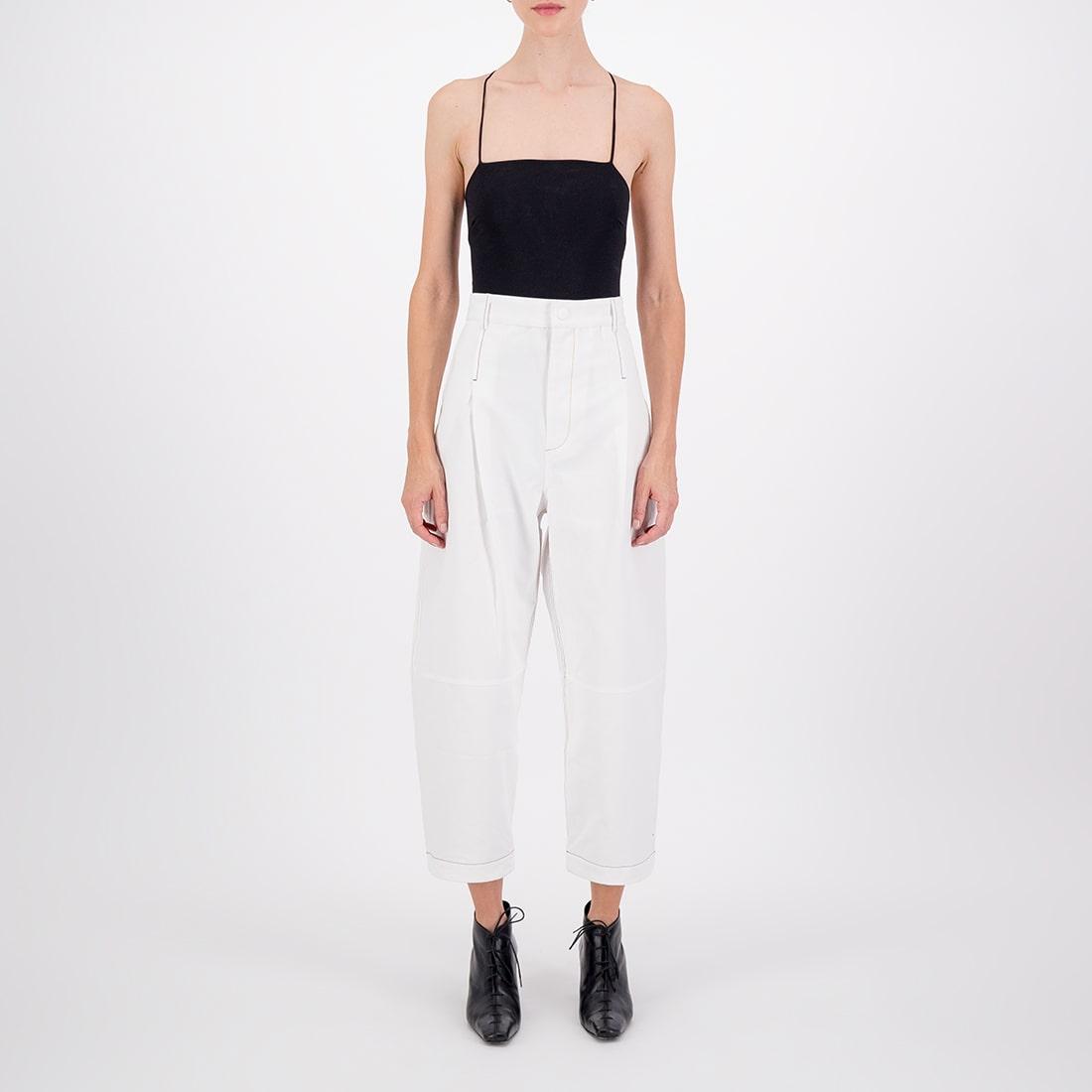 100% cotton cropped denim pant 2