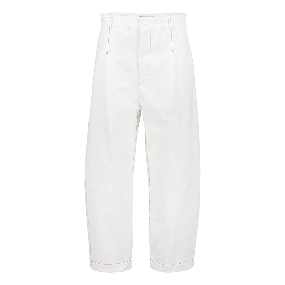 100% cotton cropped denim pant 1