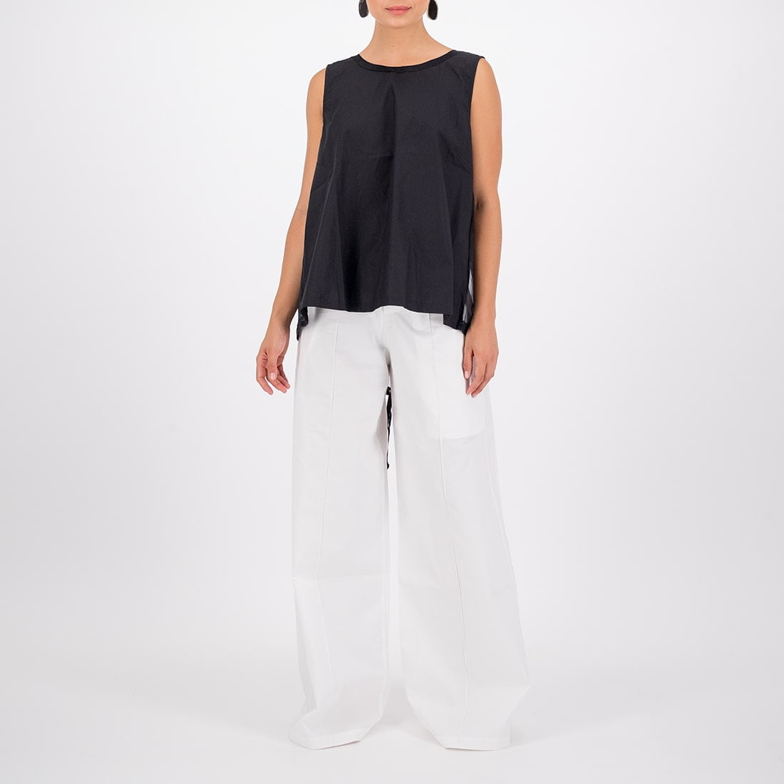 Cotton-silk blend sleeveless top 2