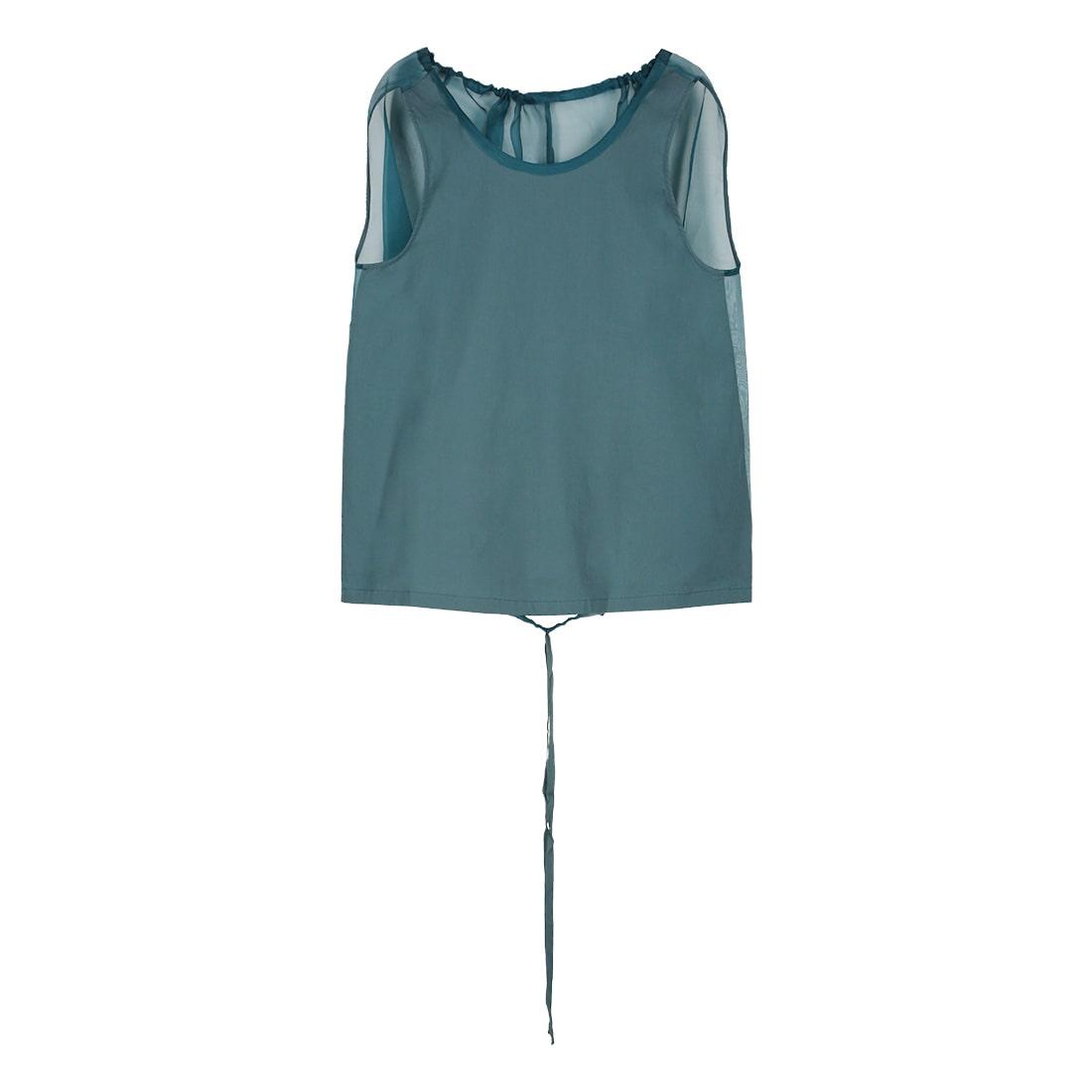 Cotton-silk blend sleeveless top 1