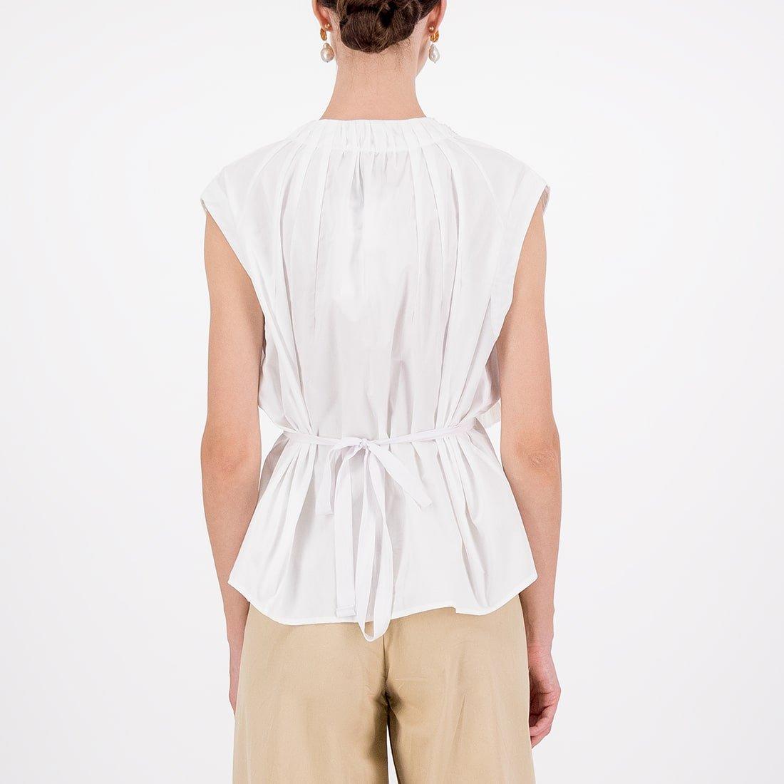 Fabric blend asymmetrical sleeveless top 3