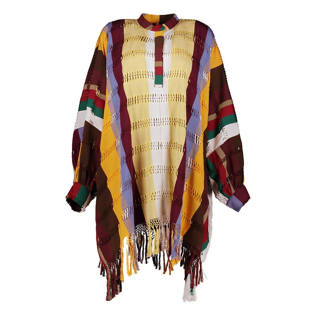 100% cotton long-sleeved tunic 1