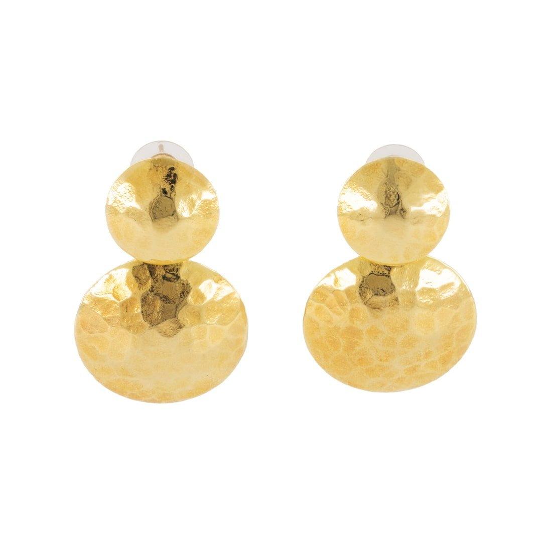 Hammered Circle Earrings 1