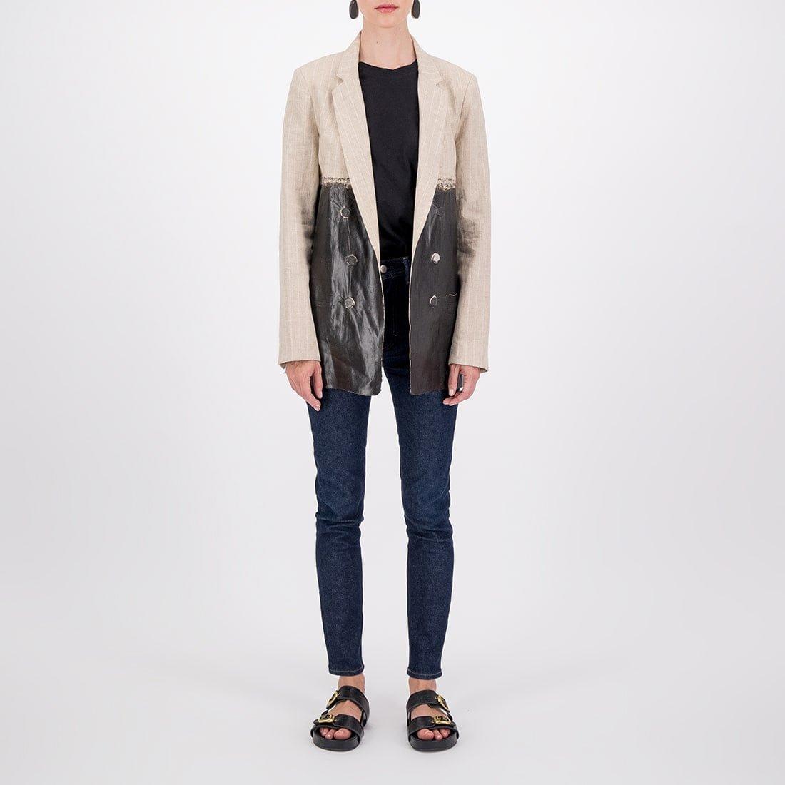 100% linen oversized blazer 2