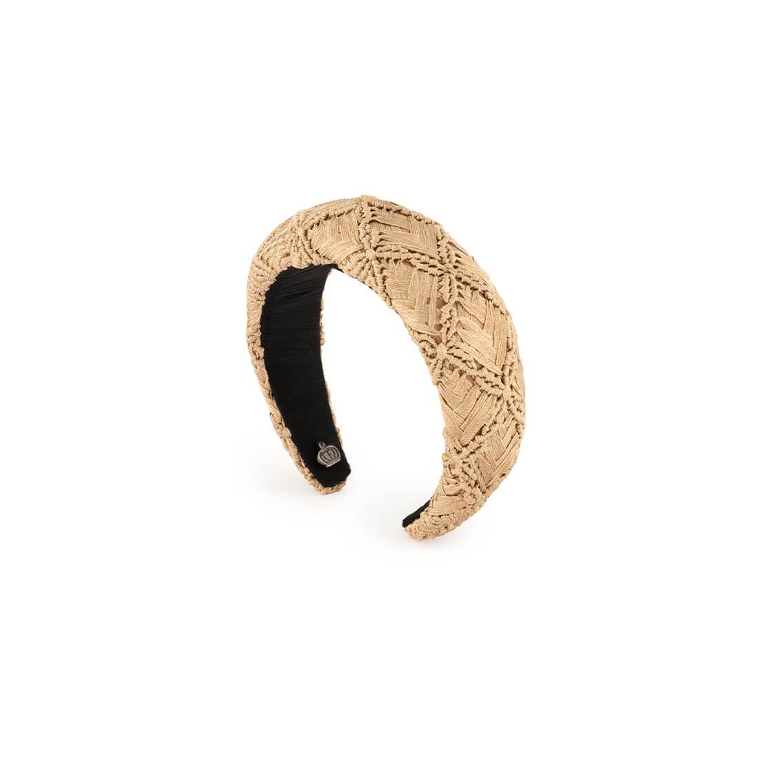 Handwoven, macramé headband 1