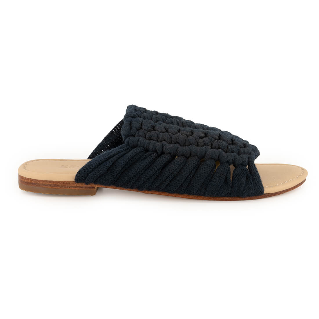 Hand-knit sandal with leather sole 1