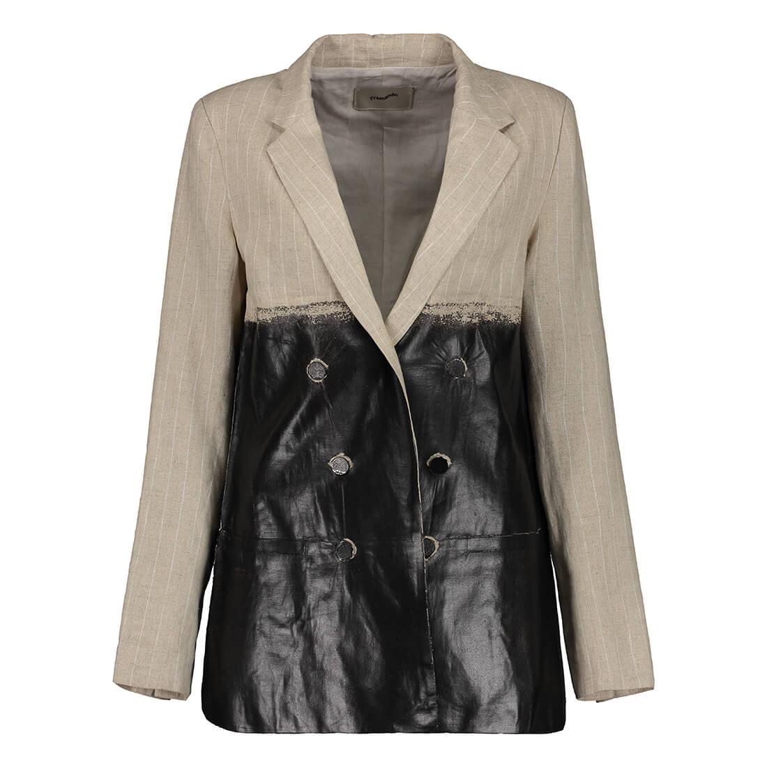 100% linen oversized blazer 1