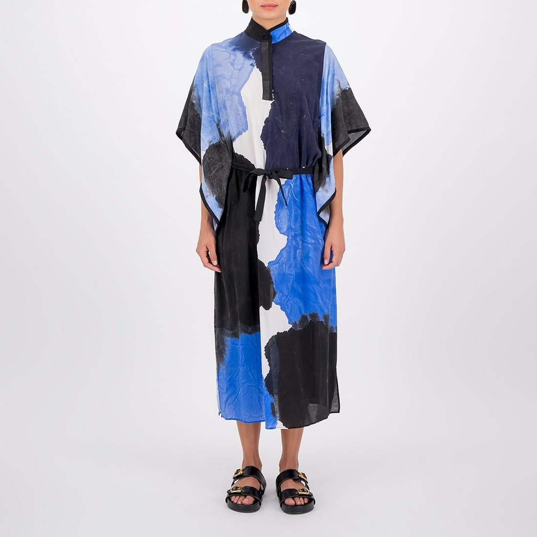 Hand-painted 90% cotton full-length tunic 2