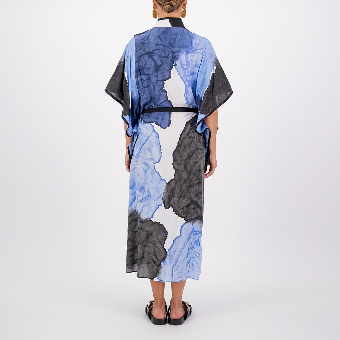 Hand-painted 90% cotton full-length tunic 3