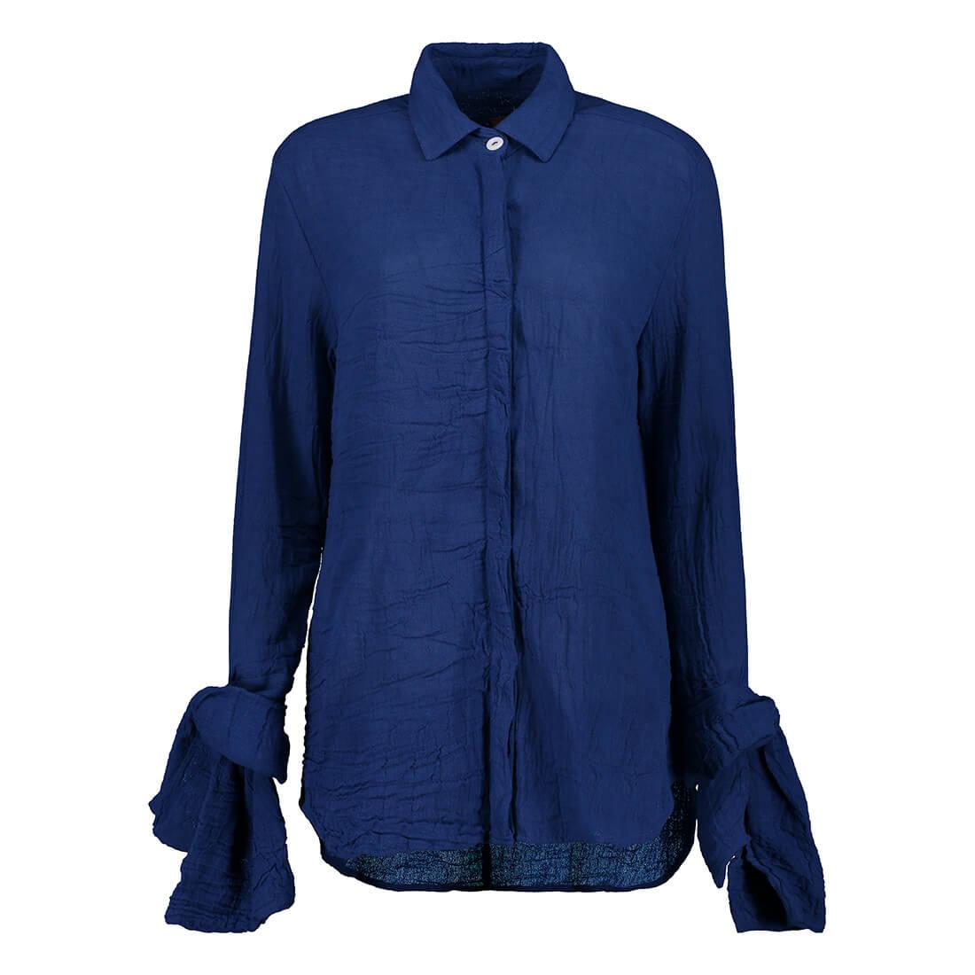 Sweetheart neckline blouse in 100% cotton 1