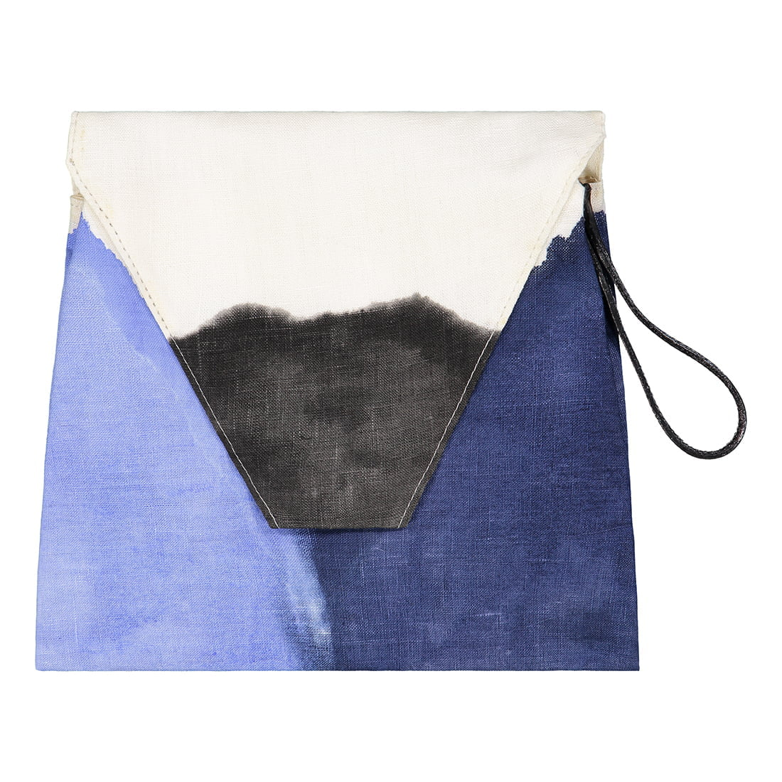 Vishnu hand painted linen clutch 1